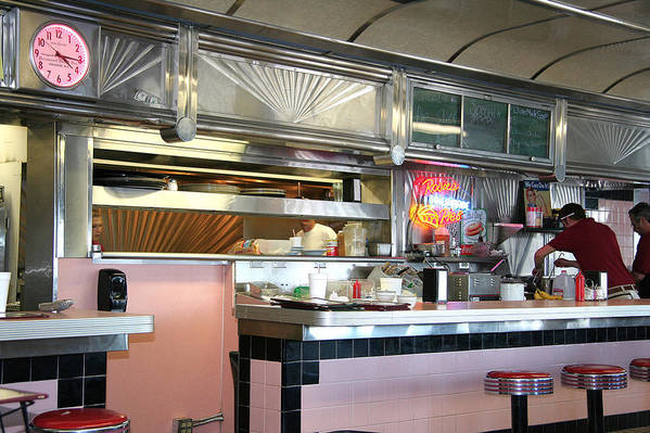 Art Print featuring the painting Haledon Diner by Randy Ford
