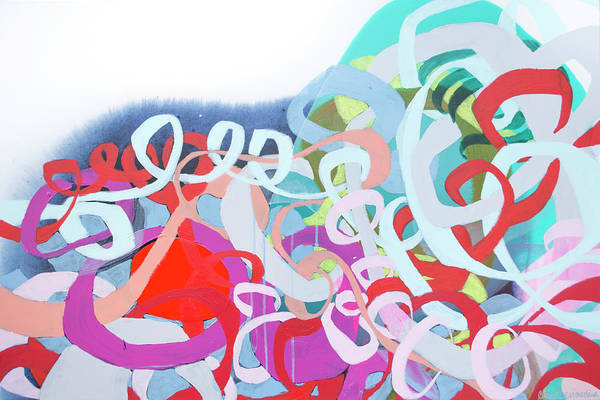 Abstract Art Print featuring the painting The Thrill Of It All by Claire Desjardins