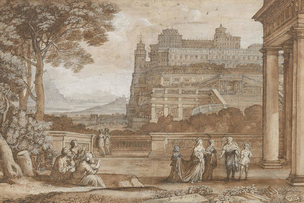 Queen Esther Approaching the Palace of Ahasuerus by Claude Lorrain