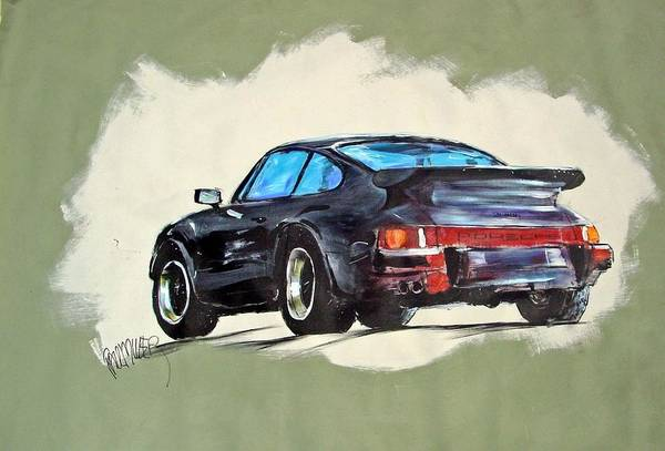 Auto Art Print featuring the painting Carrera by Paul Miller