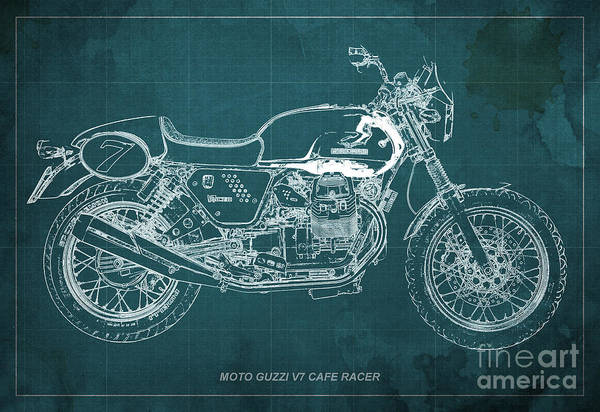 Moto Guzzi V7 Cafe Racer by Drawspots Illustrations