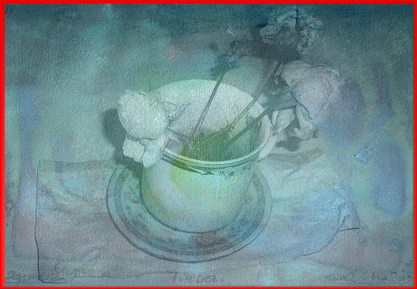 Skyworks Art Print featuring the digital art Skyworks 2 Rose by Friedl Aigner