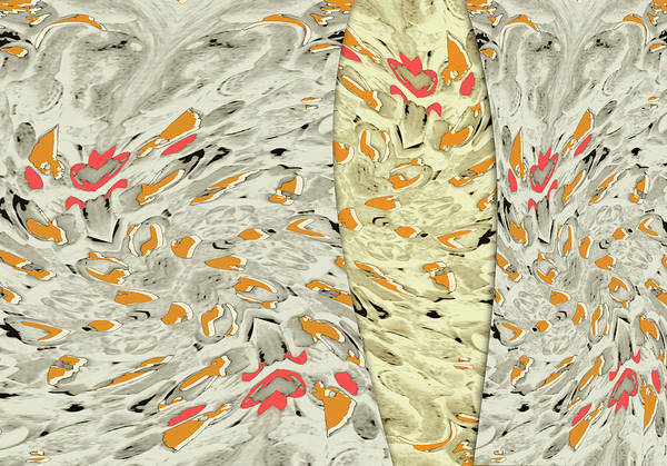 Abstract Art Print featuring the digital art Stains by Efrat Fass