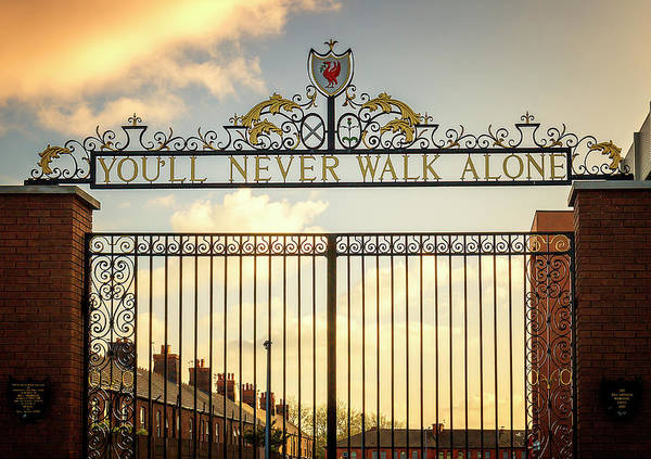Bill Shankly Gates Anfield by Kevin Elias