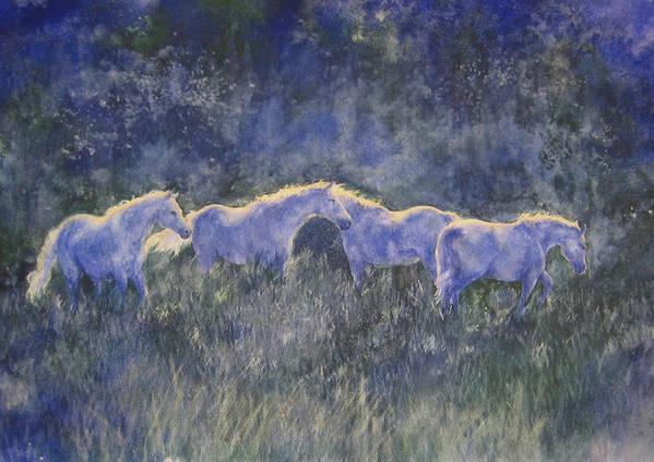 Landscape Art Print featuring the painting Horizonline by Barbara Widmann