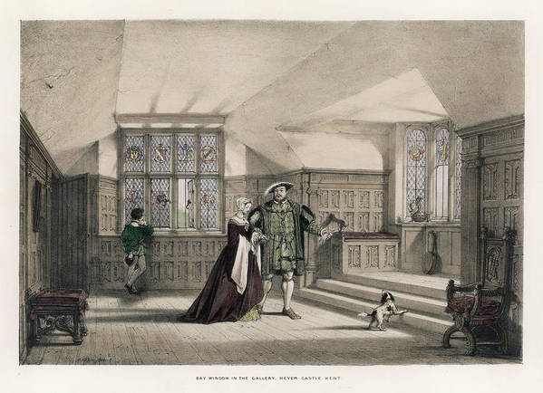 King Henry Viii And Anne Boleyn by Mary Evans Picture Library