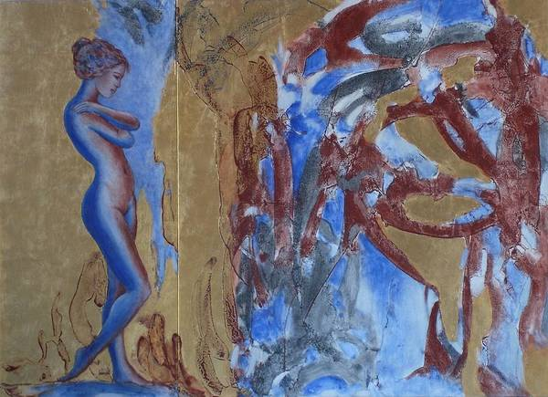 Nude Art Print featuring the painting Unchartered Territory by Michael Price