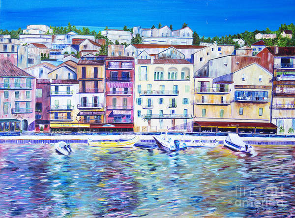 France Art Print featuring the painting Mediterranean Morning by JoAnn DePolo