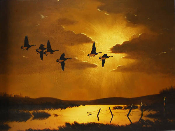 Birds Art Print featuring the painting Time To Take A Break by Mike Ross