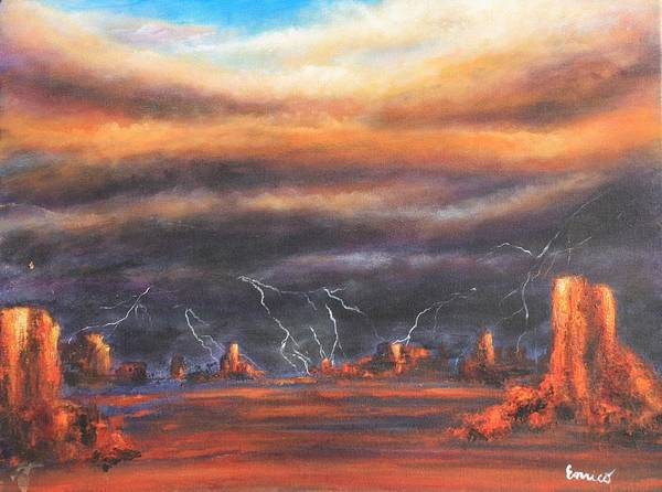 Symbolism Art Print featuring the painting Storm Break by Art Enrico