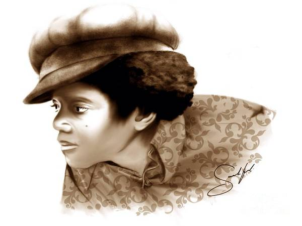Michael Jackson Art Print featuring the digital art Never Can Say Goodbye by Rod Sandiford
