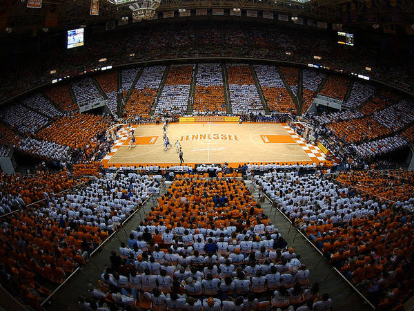 Tennessee Art Print featuring the photograph Tennessee Volunteers Thompson-boling Arena by Replay Photos
