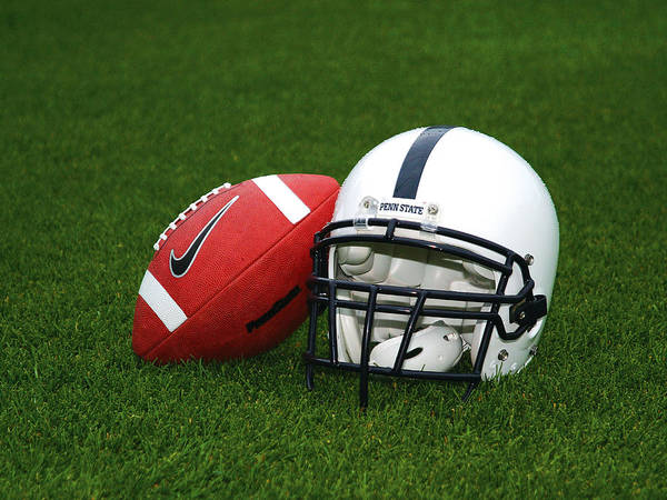 Penn State University Print featuring the photograph Penn State Football Helmet by Joe Rokita