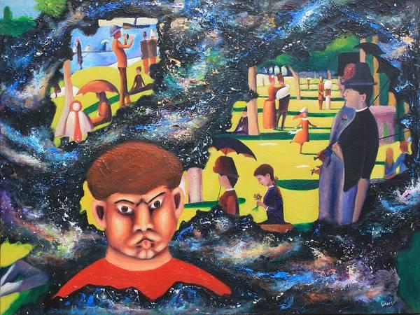 Quantum Print featuring the painting Quantum Quasimodo by Art Enrico