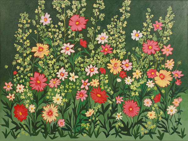 Contemporary Floral Painting Art Print featuring the painting Artist by Susan Rinehart