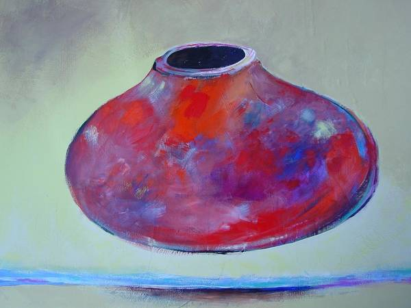 Still Life Art Print featuring the painting Floating Pot by Paul Miller