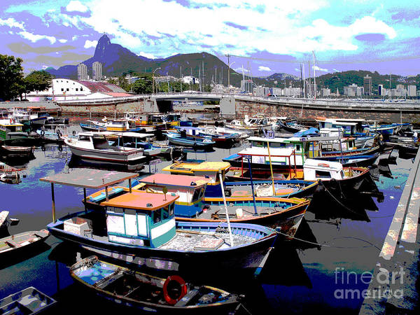 Boats Boat Art Print featuring the photograph Harbour 01 by Carlos Alvim