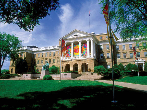 University Of Wisconsin Art Print featuring the photograph Wisconsin Bright Colors At Bascom by UW Madison University Communications
