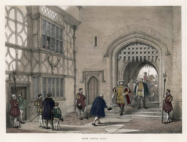 Henry Viii Arrives At Hever Castle by Mary Evans Picture Library
