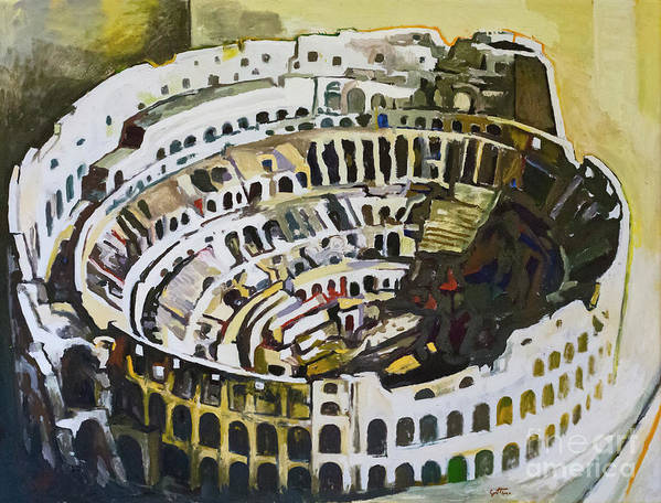 The colosseum  by Renato Guttuso by Roberto Morgenthaler