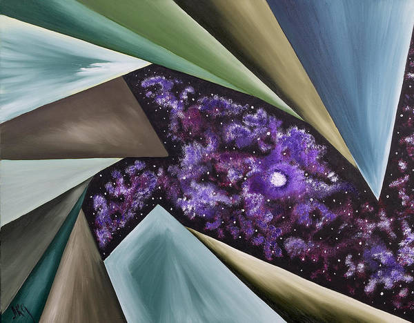 Abstract Geometry Art Print featuring the painting Beginning Of The Journey by Ara Elena