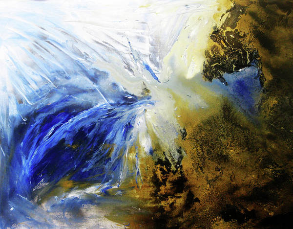 Abstract Art Print featuring the painting Close Your Eyes by Lea Davis