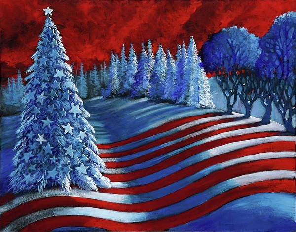 Christmas Cards Art Print featuring the painting Christmas Glory by Ford Smith