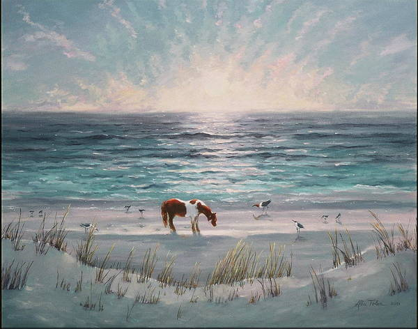 Beach Art Print featuring the painting Grace by Alice Toler