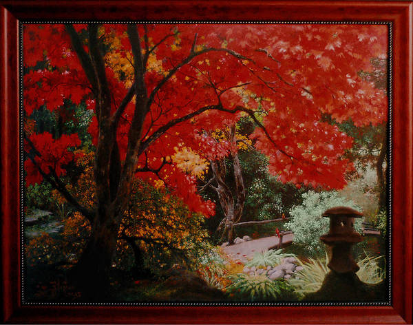 Oriental Art Print featuring the painting Canopy Of Red by Stephen Lucas