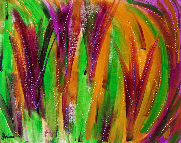 Acrylic Paintings Art Print featuring the painting Mardi Gras by Shiree Gilmore