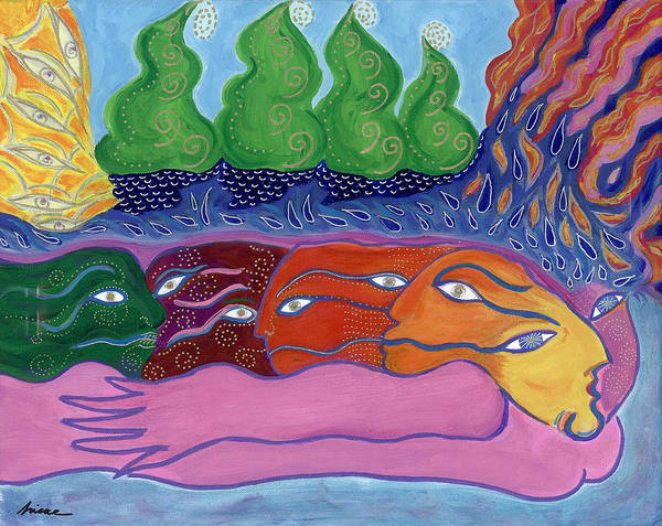 Painting Art Print featuring the painting Voices Within by Sharon Nishihara