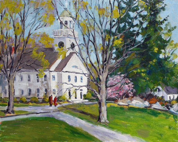 Hingham Art Print featuring the painting The 2nd Parish by Chris Coyne