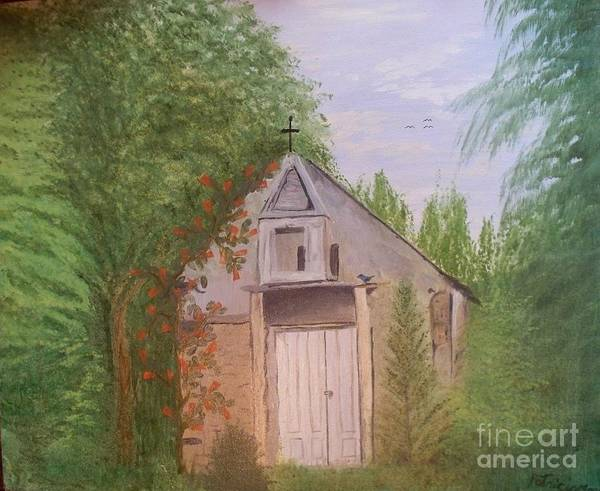 Church Art Print featuring the painting Old New Mexico Church by Patricia Morales