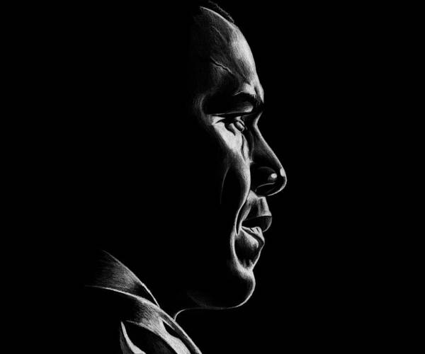 Barack Art Print featuring the drawing Mr. President by Jeff Stroman