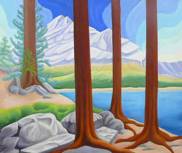 Landscape Art Print featuring the painting Rocky Mountain View 1 by Lynn Soehner