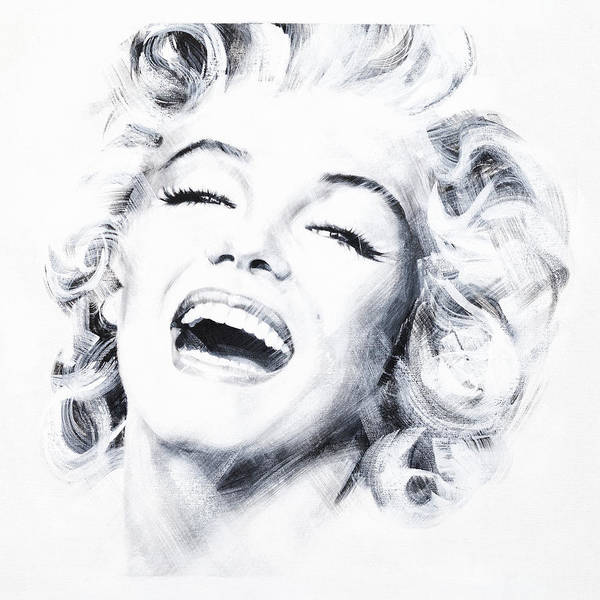 Marilyn Art Print featuring the painting Marilyn 3 by Jean Pierre Rousselet