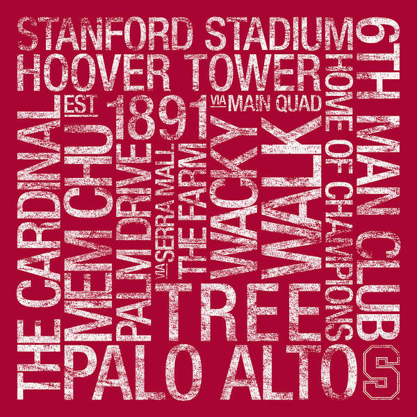Photo Art Print featuring the photograph Stanford College Colors Subway Art by Replay Photos