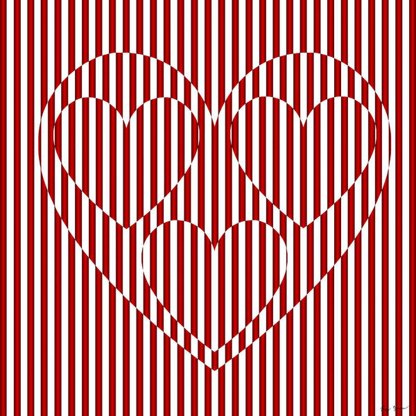 Heart Art Print featuring the digital art Hearts In Heart  by Raymond Youm