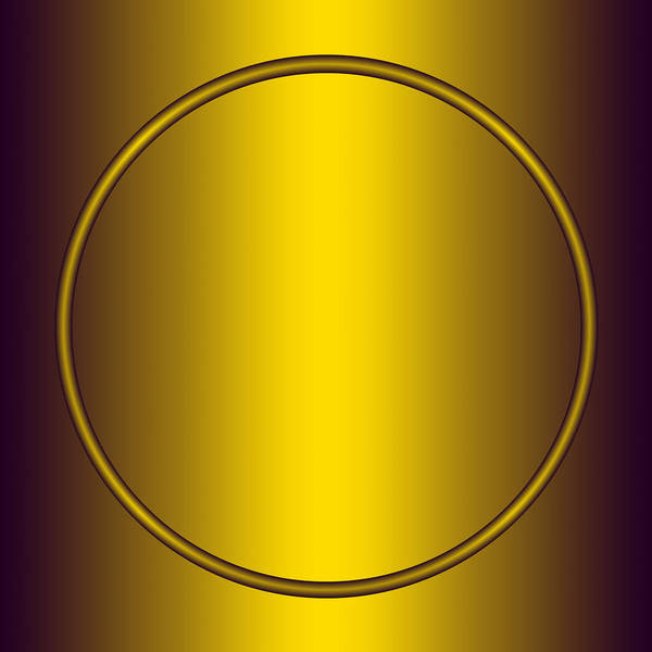 Gold Art Print featuring the digital art Symbol Of Peace Number 2  by Raymond Youm