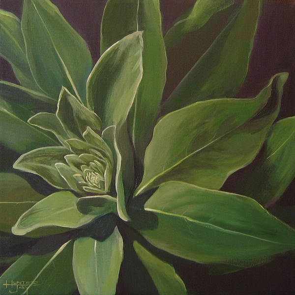 Closeup Of Mullein Plant Art Print featuring the painting Beautiful Stranger by Hunter Jay