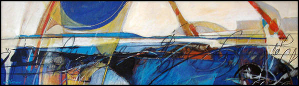 Abstract Art Print featuring the painting Oregon Coast by Dale Witherow