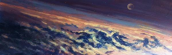 Earth Light Series Art Print featuring the painting Earth Light Series Lights On by Len Sodenkamp
