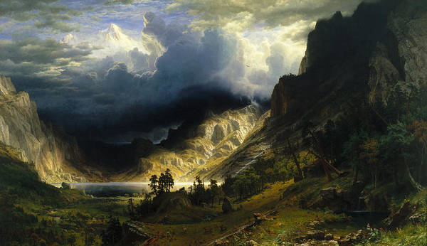 A Storm in the Rocky Mountains, 1866 by Albert Bierstadt