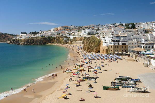 Albufeira Beach And Old Town by Mikehoward Photography