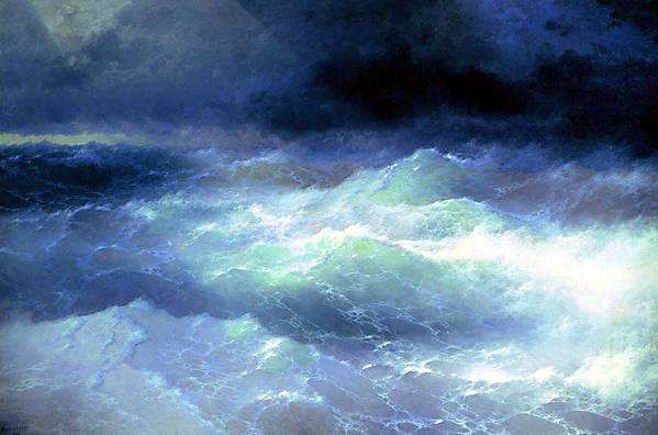 Among the waves by Aivazovsky