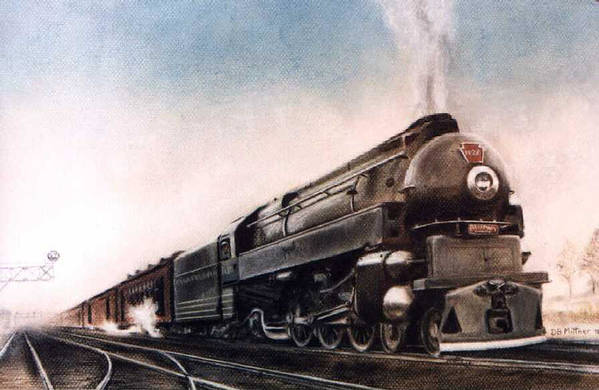 Trains Art Print featuring the painting Broadway Limited by David Mittner