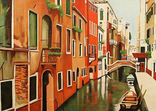 Venice Italy Art Print featuring the painting Venice In Color by Patrick Hunt
