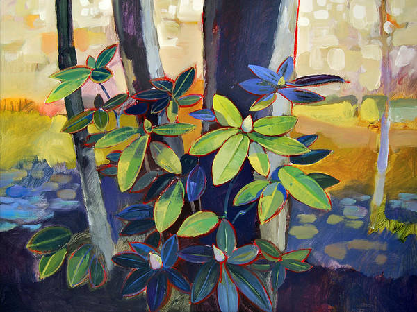 Landscape Art Print featuring the painting My Back Yard by Farhan Abouassali