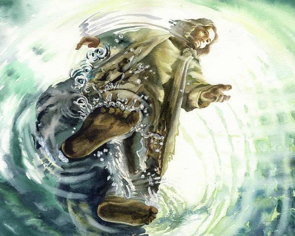 Christ Walking on the Sea  by Natalia Stasishina