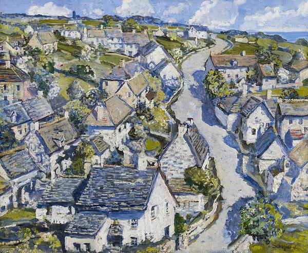 Mining Village In Cornwall by Walter Elmer Schofield